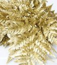 Gold Painted Leather Leaf Foliage