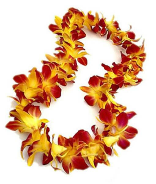 Purple and Yellow Orchid Leis