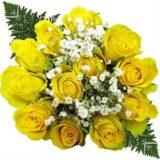 Ten Doze Yellow Rose Bouquets