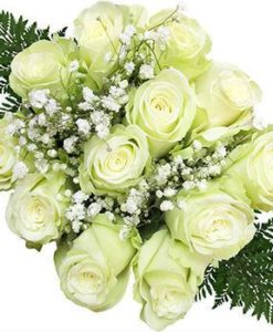 Ten Dozen White Rose Bouquets